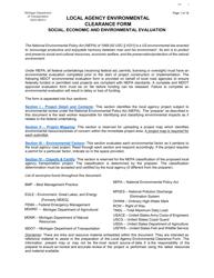 "Form MDOT5323 ""Local Agency Environmental Clearance Form"" - Michigan"
