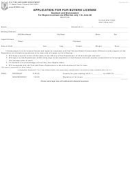 """Form BUS09005 """"Application for Fur Buyers License"""" - New Hampshire"""