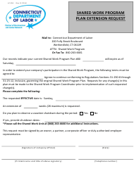 """Form UC-308 """"Shared Work Program Plan Extension Request"""" - Connecticut"""