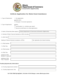 """""""Uniform Application for State Grant Assistance"""" - Illinois"""