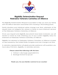 """Form NVCA EDR """"Eligibility Determination Request"""" - Nebraska"""