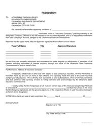 """""""Authorized Signature Update"""" - Oklahoma"""