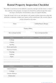 """""""Rental Property Inspection Checklist Template"""""""