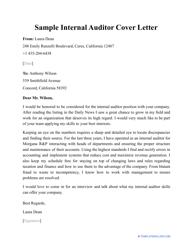 """Sample """"Internal Auditor Cover Letter"""""""
