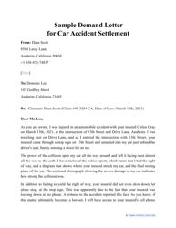 """Sample """"Demand Letter for Car Accident Settlement"""""""