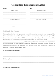 """""""Consulting Engagement Letter Template"""""""
