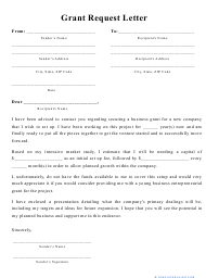 """""""Grant Request Letter Template"""""""