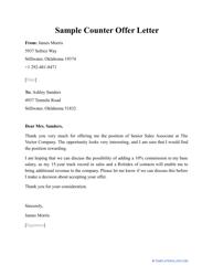 """Sample """"Counter Offer Letter"""""""