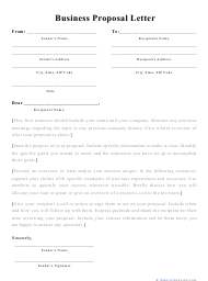 """""""Business Proposal Letter Template"""""""
