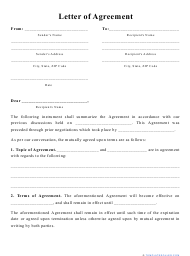 """""""Letter of Agreement Template"""""""