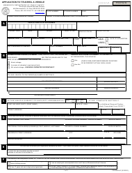 """Form PS2000A """"' application to Title and Register a Motor Vehicle"""" - Minnesota"""