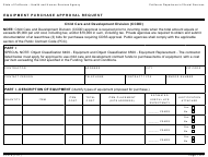 """Form CCD9 """"Equipment Purchase Approval Request"""" - California"""