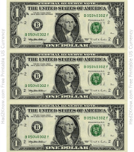 """One Dollar Bill Template - Front"""