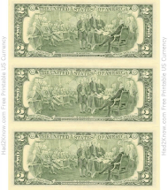 """""""Two Dollar Bill Template - Back"""""""