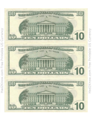 One Five And Ten Dollar Bill Templates Download Printable Pdf