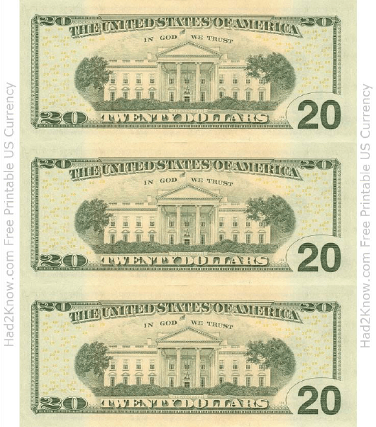 photo regarding Dollar Bill Printable called 20 Greenback Invoice Template - Again Obtain Printable PDF