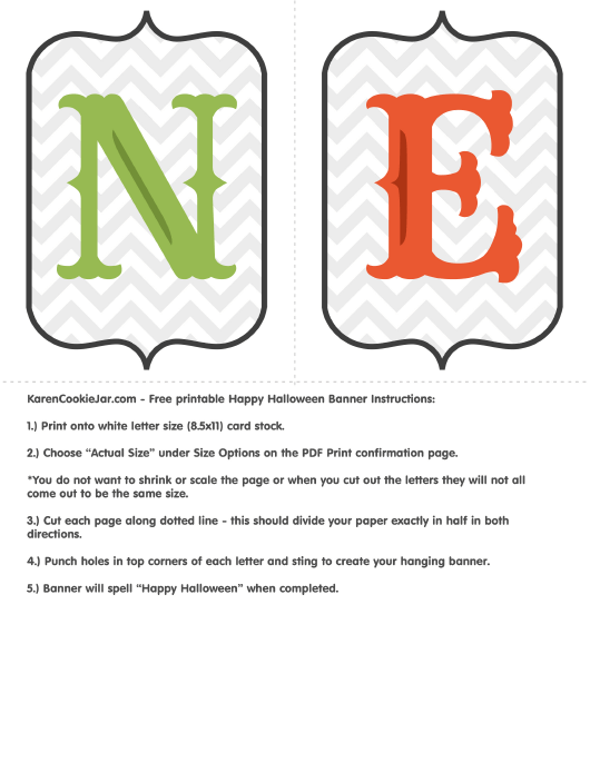 happy halloween banner letter templates download printable pdf
