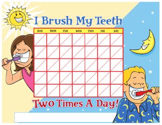 """Teeth Brushing Chart for Kids"""