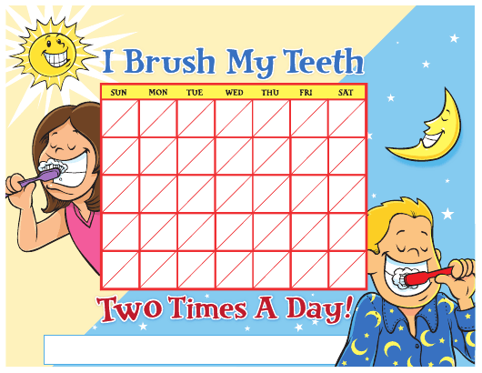 """Teeth Brushing Chart for Kids"" Download Pdf"