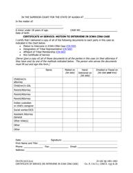 "Form CN-570 ""Certificate of Service: Motion to Intervene in Icwa Cina Case"" - Alaska"