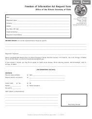 """Form EX27 """"Freedom of Information Act Request Form"""" - Illinois"""
