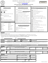 """Form PS2904 """"Application for Disability Plates"""" - Minnesota"""