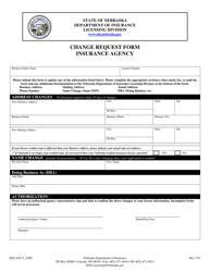 "Form DOI AGCY_CHG ""Insurance Agency Change Request Form"" - Nebraska"
