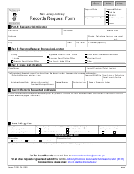 """Form 10200 """"Records Request Form"""" - New Jersey"""