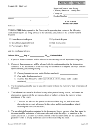 """Form 10485 """"Civil Action Protective Order"""" - New Jersey"""
