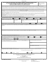 """DD Form 294 """"Application for a Review by the Physical Disability Board of Review (Pdbr) of the Rating Awarded Accompanying a Medical Separation From the Armed Forces of the United States"""""""
