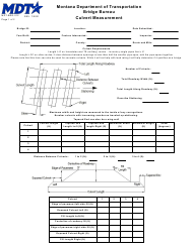 "Form MDT-BRG-012 ""Culvert Measurement"" - Montana"