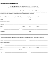 """Appendix III """"Icip Permission for Access Form"""" - New Mexico, 2027"""