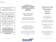 """Form DPP-154 """"Protection and Permanency Service Appeal"""" - Kentucky"""