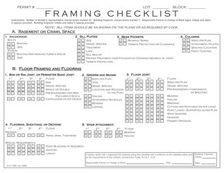 "UCC Form F390 ""Framing Checklist"" - New Jersey"