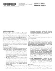 """Form DR0100 """"Colorado Retail Sales Tax Return"""" - Colorado"""
