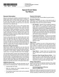 "Form DR0098 ""Special Event Sales Tax Return"" - Colorado"