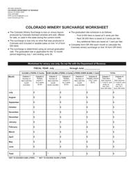 "Form DR0450 ""Colorado Winery Surcharge Worksheet"" - Colorado"