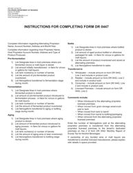 """Form DR0447 """"Manufacturer Production Report for Alternating Proprietor Licensed Premises"""" - Colorado"""