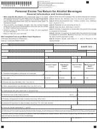 """Form DR0449 """"Personal Excise Tax Return for Alcohol Beverages"""" - Colorado"""