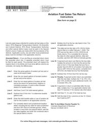 "Form DR1510 ""Aviation Fuel Sales Tax Return"" - Colorado"