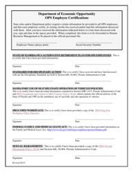 """Ops Employee Certifications"" - Florida"