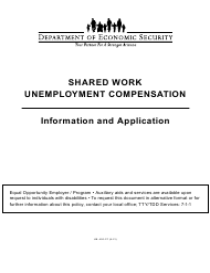 "Form UB-400 ""Shared Work Plan Application"" - Arizona"