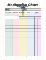 """""""Medication Chart Template - Crown Medical Center"""""""