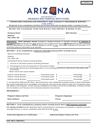 """Form E-PC.350 """"Producer Controlled Property and Casualty Insurance Report"""" - Arizona"""