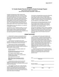 "Appendix E ""Consent to Transfer Student Records Through the Student Exchange Program"" - Colorado"