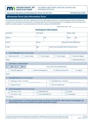 "Form AG03241 ""Minnesota Farm Link Information Form - Beginning Farmer"" - Minnesota"