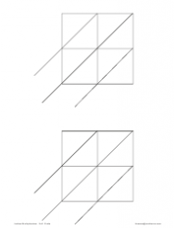 Lattice Multiplication Chart - 2x2 Grids