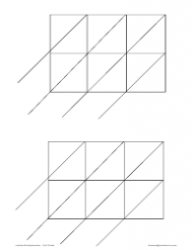Lattice Multiplication Chart - 2x3 Grids