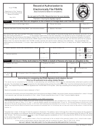 Form 114a Record of Authorization to Electronically File Fbars