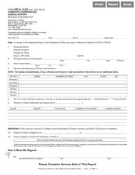 Form BCA 14.05 Domestic Corporation Annual Report - Illinois
